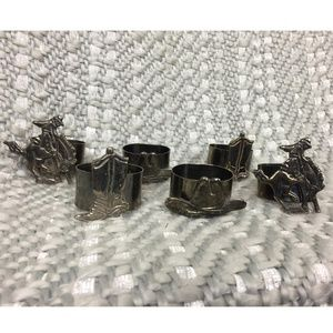 Other - Silver Plate Western Theme Napkin Rings- Set of 6
